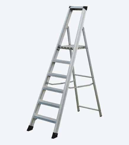 "ALUMINIUM BUILDER LADDER WITH PLATFORM ""SHRP"""