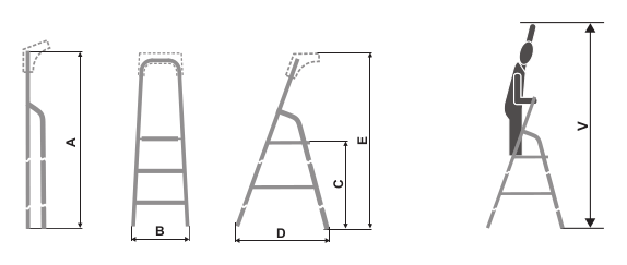 "ALUMINIUM STEP LADDER ""ALW RS"""