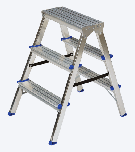 "DOUBLE SIDED ALUMINIUM STEP LADDER ""DHR"""
