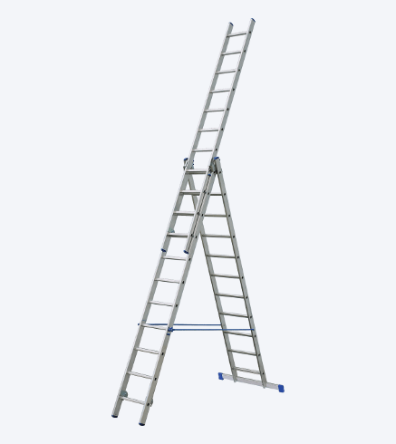 "THREE-PIECES UNIVERSAL ALUMINIUM LADDER ""VHR"""