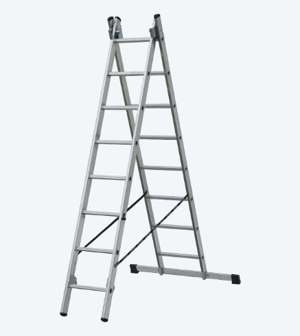 "TWO-PIECES UNIVERSAL ALUMINIUM LADDER ""VHR"""